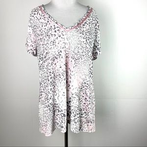 Alfani Intimates Leopard Top XXL